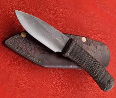 This is a nice little camp knife for those who like a wider blade. Featured in Blade Magazine's April 2011 Knifemaker's Showcase. Listed price is approximate. Bushcraft Knives, Tactical Knives, Collector Knives, Trench Knife, Edc Knife, Knife Sheath, Knife Sharpening, Fixed Blade Knife, Custom Knives