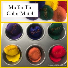 Tot School Colors Unit | Muffin Tin Color Match | Beanbag Sorting | Pre Math Skills for Toddlers and Preschoolers School Themes, School Colors, Toddler Muffins, Color Unit, Unit Plan, Tot School, Math Skills, Google Classroom, Toddler Preschool