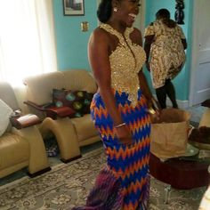 When meets to produce one fine bride. Congratulations to Nana . Cheers to greater days and joys ahead. African Wear Dresses, Latest African Fashion Dresses, African Print Fashion, African Attire, African Traditional Wedding Dress, African Wedding Dress, Traditional Weddings, African Print Dress Designs, Kente Dress