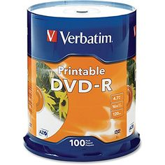 Introducing VER95153  Verbatim DVD Recordable Media  DVDR  16x  470 GB  100 Pack. Great Product and follow us to get more updates!