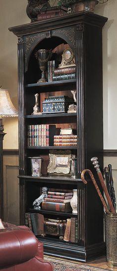 "Hooker Furniture Brown Seven Seas 85"" H Black Bookcase | Wayfair"