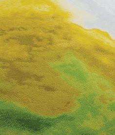 Tai Ping Carpets, Chroma Collection  yellow green fluxus I throw rug