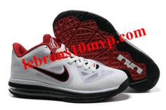 Nike Air Max Lebron 9 Low Shoes White/Black/Red