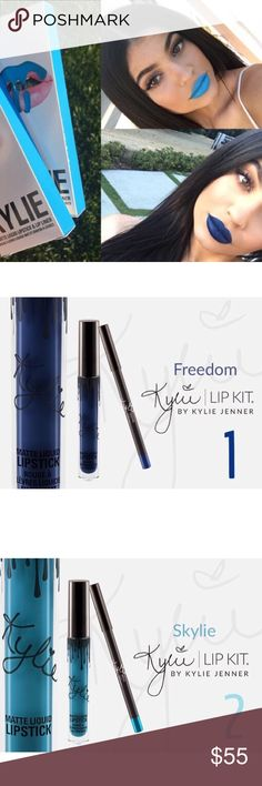 Choice Of Kylie Jenner Lip Kits Choice of Kylie Jenner lip kit. Includes liquid lipstick and matching lip liner. Price firm. No trades. Choose 1 for freedom and 2 for Skylie. Kylie Cosmetics Makeup Lipstick