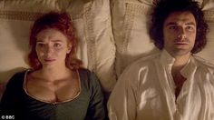 In the final scene of Series 3, Poldark and Demelza lie on their bed together after she ha...
