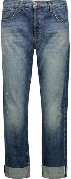 J Brand Sonny mid-rise distressed boyfriend jeans J Brand, Boyfriend Jeans, Denim Shorts, Just For You, Stylish, Pants, Tops, Women, Fashion