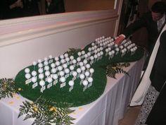 golf ball place card display