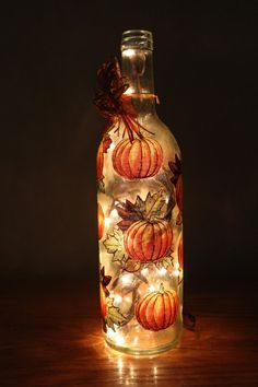 Wine Bottle / Lighted Wine Bottle / Decorative by MDCreationsCo