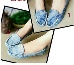 flat shoes denim