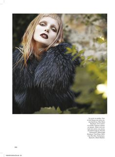 Cool makeup and hair color    Dimitris Skoulos Lenses Enchanting Fall Looks for Vogue Hellas November 2012