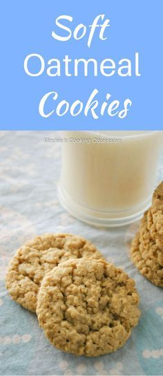 Tried and true soft, chewy oatmeal cookies are comfort food for anytime of year! They smell delicious while cooking and taste twice as good! via @https://www.pinterest.com/mindeescooking/