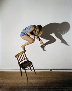 Sam Taylor-Wood, Bram Stoker's Chair III shadows don't appear to match to me but still cool