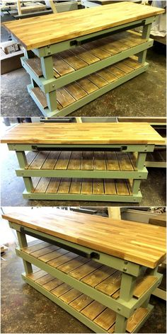 We know that kitchen also has the furniture requirement, so how can we forget to show the idea of creating something for the kitchen which fulfills the storage need? Have a look at the upcycled wood pallet kitchen island and you will love to copy it.