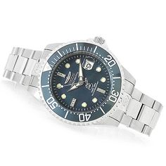 Invicta 38mm or 47mm Grand Diver Automatic Diamond Accented Bracelet Watch w/ Three-Slot Dive Case
