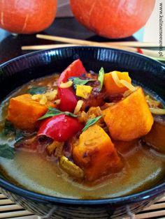 Slodki ziemniak w aromatycznej zupie azjatyckiej