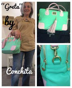 Conchita con su ''Greta'' personalizado de Collection By You. Gracias!! #greta #personalizado #bolso #piel