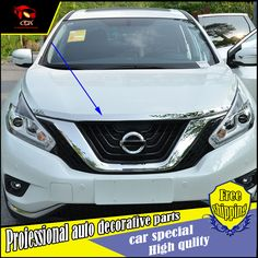 Car styling Car Front engine trim front grille trim for Nissan Murano 2015-2016 car engine cover trim decorative Accessories