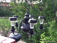 Barnnumber2  : DIY solar wall sconce and garden chandelier