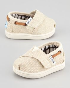 I love these! Tiny Burlap Bimini Shoe, Natural by TOMS at Neiman Marcus.