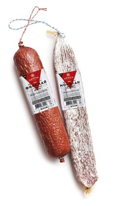 Sausage packaging design by Lena McCoder branding agency