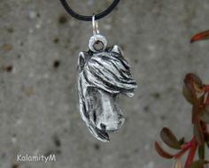 Klepna-přívěšek bezolovnatý cín náhrdelník dárek kůň cín přívěšek koňská hlava Personalized Items