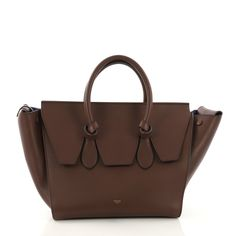 dd43fc833dff Celine Tie Knot Tote Smooth Leather Small Brown 392901 – Rebag