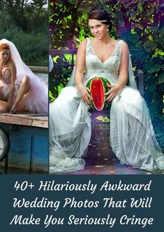 It's fair to say that brides and grooms worldwide have different styles, tastes, and distinct ideas of what their wedding photos should look like. #40+ #Hilariously #Awkward #WeddingPhotos #Cringe