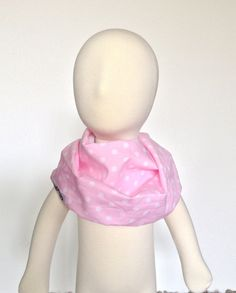 Modern Bib Pink/White Dots All in One Scarf & Bib Scabib by Scabib, $13.00