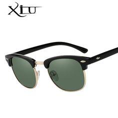 c0e89aa77 XIU Sunglasses Polarized Men Women Semi Rimless Sunglass Brand Design  Vintage Sun glasses for Women Top