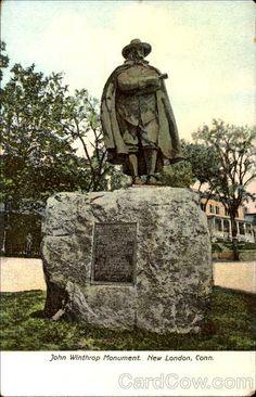 John Winthrop Monument New London Connecticut New London Connecticut, Massachusetts Bay Colony, Salem Mass, Ellis Island, Cruise Port, Tourist Information, Homeland, Family History, Day Trips