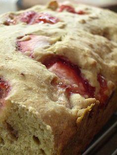 srs. best recipe ever- healthy strawberry banana bread sans egg or oil breakfast