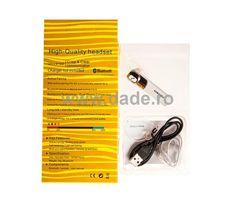 Casca  cu bluetooth D-05-big White Out Tape, Bluetooth, Office Supplies, Big
