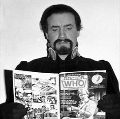 """Goatee devotee: here catching up on Whoniverse gossip in Doctor Who Monthly magazine, Anthony Ainley filled Roger Delagdo's shoes as The Master for eight years between 1981 and '89."""