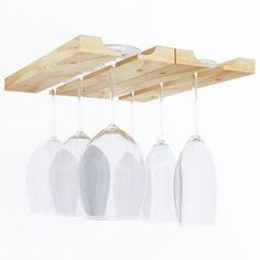 Wine-Glass-Rack-Under-Cabinet-Hanging-Holder-Wood-Stemware-Glasses-Hanger-Home