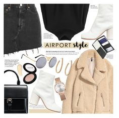 """""""Airport Style"""" by chocolate-addicted-angel ❤ liked on Polyvore featuring AGOLDE, Maison Margiela, Stila, ATP Atelier and Royce Leather"""