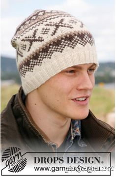 f3789819d32 Knitted hat for men with Nordic pattern