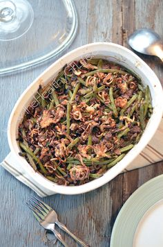 Beef & Green Bean Casserole from www.TheHealthyGFLife.com - paleo, gluten free, grain free, dairy free, egg fre