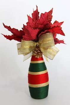 , find hand made, old, you regarding a level products and their personal gifts associated with personal look. Wine Bottle Art, Glass Bottle Crafts, Diy Bottle, Handmade Christmas Decorations, Christmas Centerpieces, Christmas Crafts, Wrapped Wine Bottles, Christmas Wine Bottles, Jar Crafts