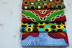 4 Pieces Bundled Fat Quarters Wax Prints Craft by SuomiiFabrics