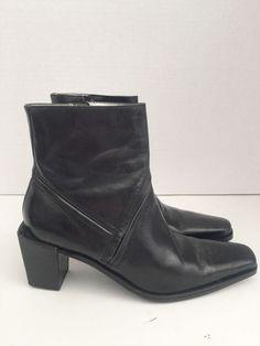 BANANA REPUBLIC - Womens Black Leather Boots - Size 8 #BananaRepublic #FashionAnkle