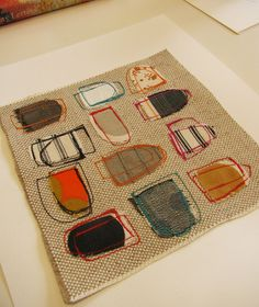 fabric & stitch collage