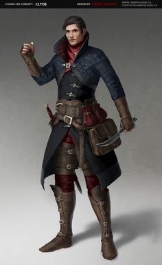 thief, rogue, RPG, D&D, DnD Character Concept: Clyde by JimmyZhang.deviantart.com on @DeviantArt