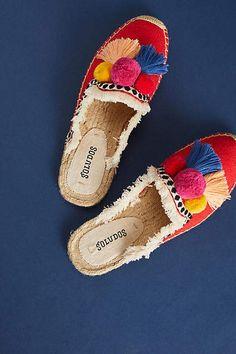 Soludos Pommed Espadrille Slides #ad #shoes #shoelover #shoeaddict