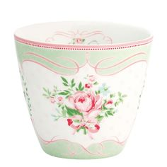 GreenGate Stoneware Latte Cup Amelie White H 9 cm | NEW! GreenGate Spring/Summer 2014 | Originated-Shop