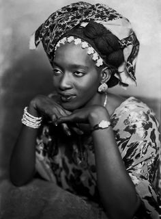 """http://sn.im/eq35bs4u for more pictures, Mama Casset, series �African Photo"""" ca. 1950, courtesy Revue Noire Galerie."""