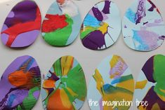 Easter Egg Spin Art Garland - The Imagination Tree