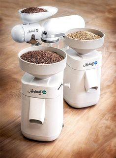 Milling gluten-free grains into flour. Watch, listen, or read to learn the best mill + how to create gluten-free flour blends! Cooking Gadgets, Kitchen Gadgets, Kitchen Appliances, Flour Mill, Kitchenaid Stand Mixer, Kitchen Organization Pantry, Gluten Free Grains, Flour Recipes, Bread Recipes