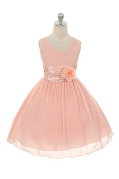 Sara Beth Crinkle Chiffon Flower Girl Dress