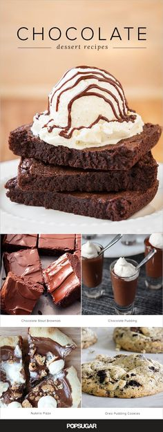 More than 30 lush, chocolaty desserts for busy people (aka these are all fast and easy recipes! Party Desserts, No Bake Desserts, Delicious Desserts, Dessert Recipes, Yummy Food, Dessert Party, Easy Chocolate Desserts, Salted Chocolate, Chocolate Recipes
