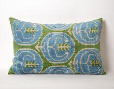 Decorative pillow 15x23 Silk Velvet Ikat Pillow Cover by pillowme